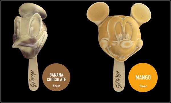 Детское мороженое *STOYN Ice Cream* в виде Дональда Дака и Микки Мауса