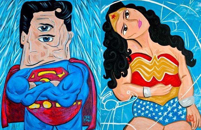 Супергерои, кубизм и Пикассо. Арт-проект дизайн-студии WonderBros