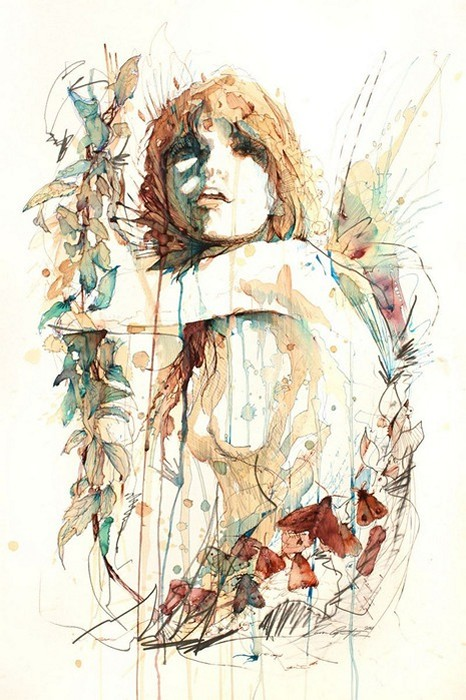 Картины Карне Гриффитс (Carne Griffiths) из чая, красок и коньяка