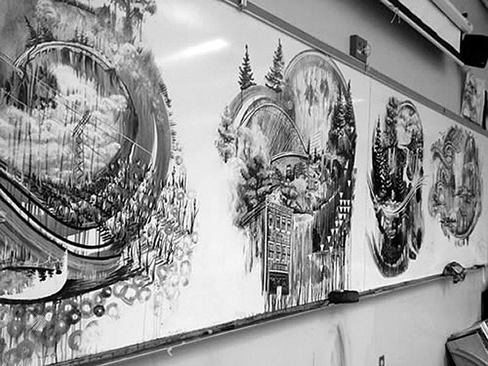 Temporary Whiteboard Drawings, картины от Gregory Euclide