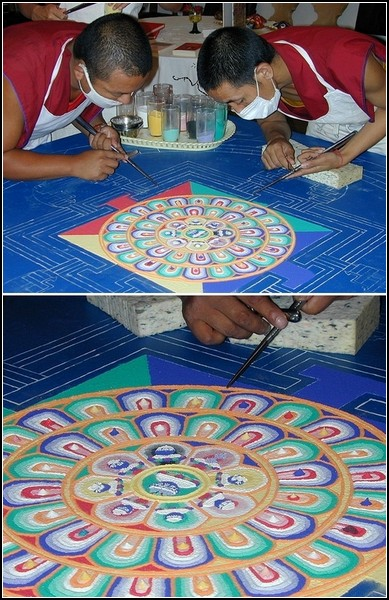 Мандала символизирует сферу обитания божеств, чистые земли будд
