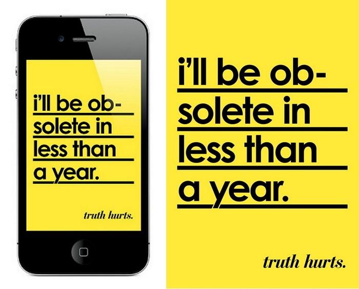 *Я устарею менее чем через год. Арт-проект Truth Hurts дизайнера Nico Ordozgoiti