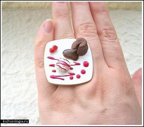 Необычные кольца из полимерной глины