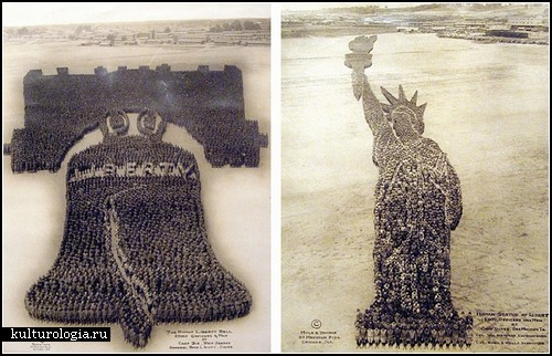 Картины-фотографии из американских солдат времен I мировой войны