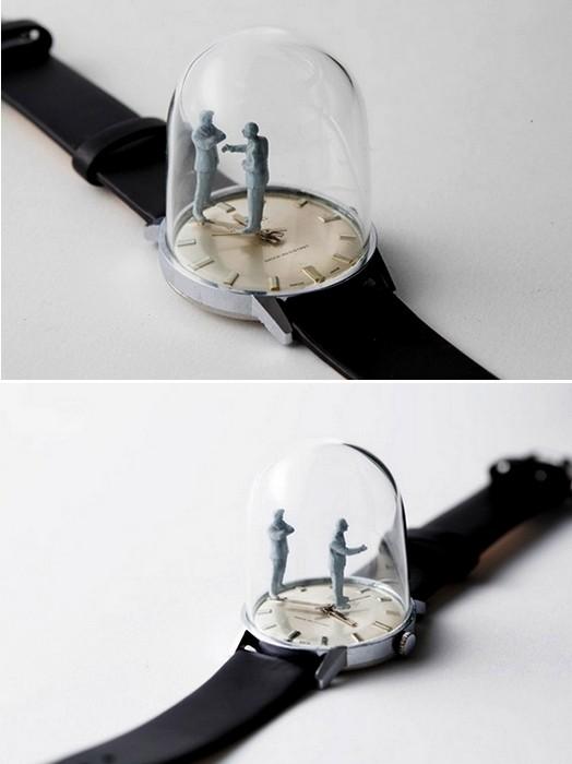 Moments in time, анимированные скульптуры в винтажных часах