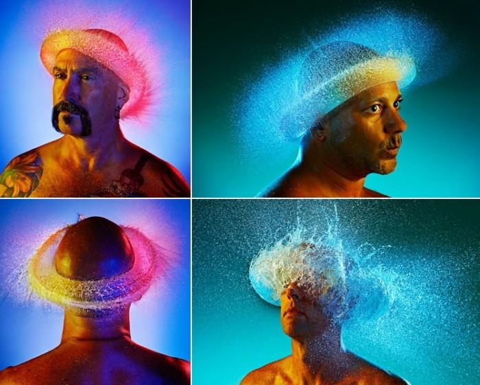 Парики из воды, фотопроект Тима Тэддера (Tim Tadder)