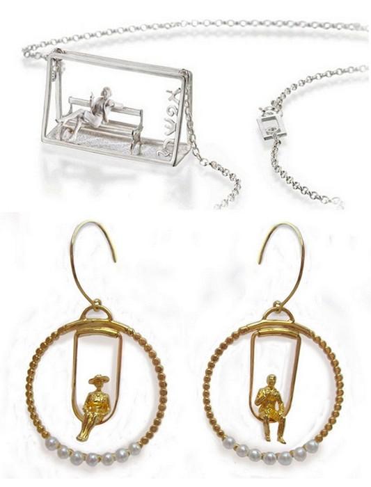 Серебряные и золотые украшения с мини-скульптурами от  Yael Serfaty и Tal Salomon