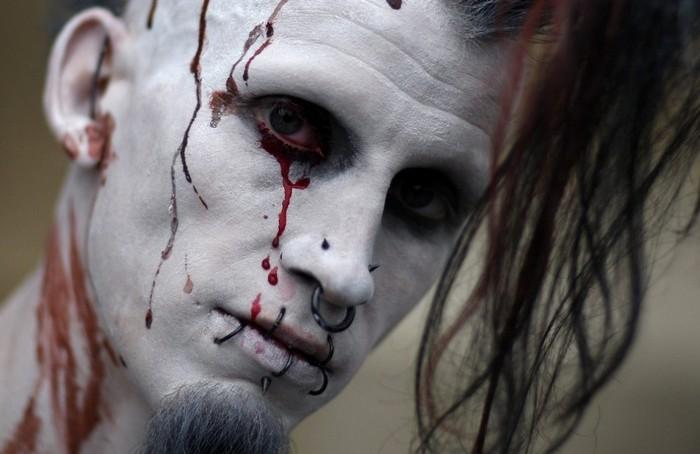 Зомби с парада Zombie Walk во Франкфурте