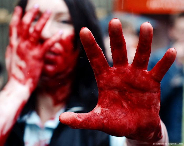 Зомби-парады в городах и странах. Инфернальные флеш-мобы