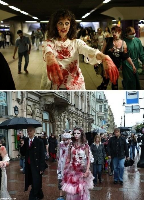Зомби-парады проходят не только за рубежом, но и в наших широтах
