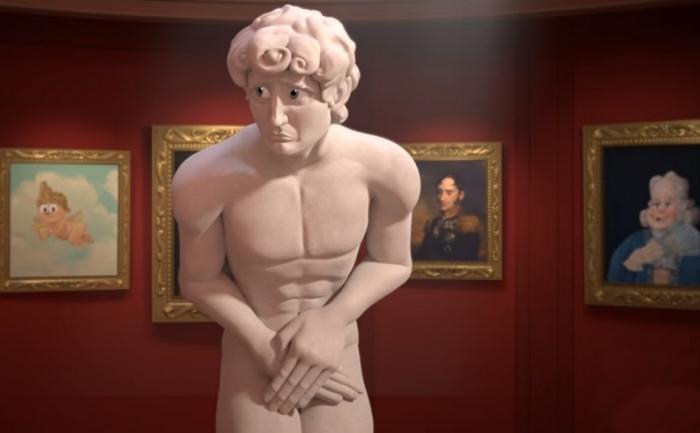 Короткометражный мультфильм о злоключениях скульптуры Давида.
