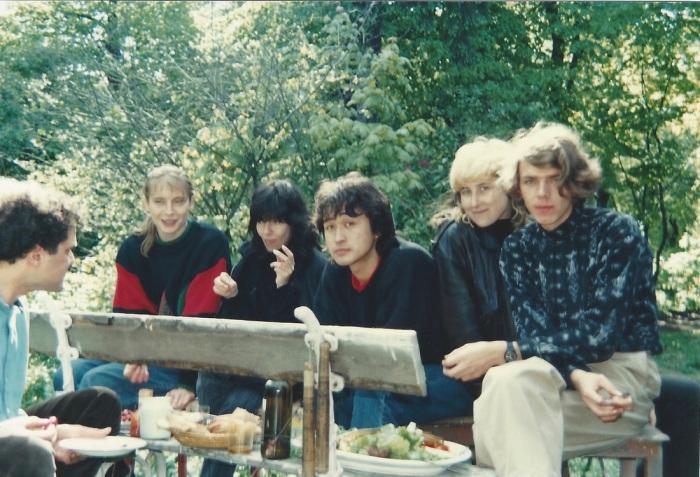 Музыканты и их жены. 1980-е.