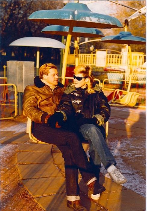 Борис Гребенщиков и Джоанна Стингрей. Москва. Парк Горького. 1984 год.