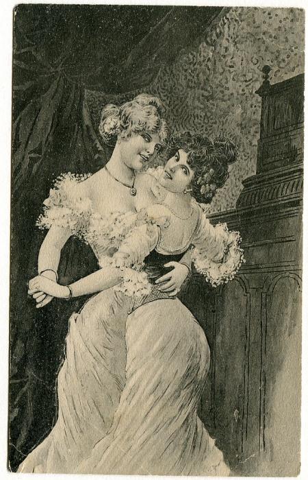Дамы с открытки про вишни.