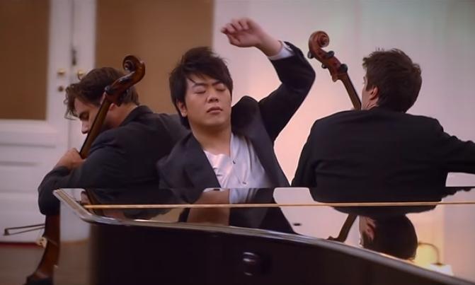 Самый популярный пианист мира Ланг Ланг и два виолончелиста.