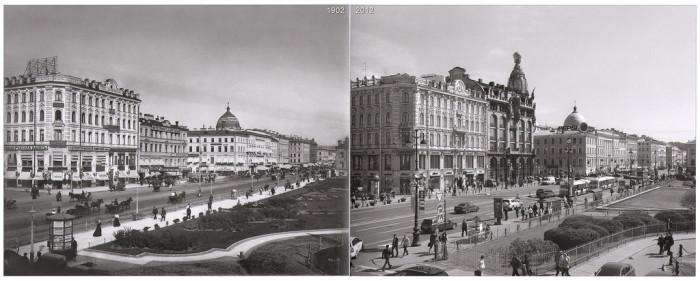 Невский проспект - вид с Казанского собора.