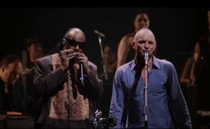 Потрясающий дуэт Стинга и Стиви Уандера