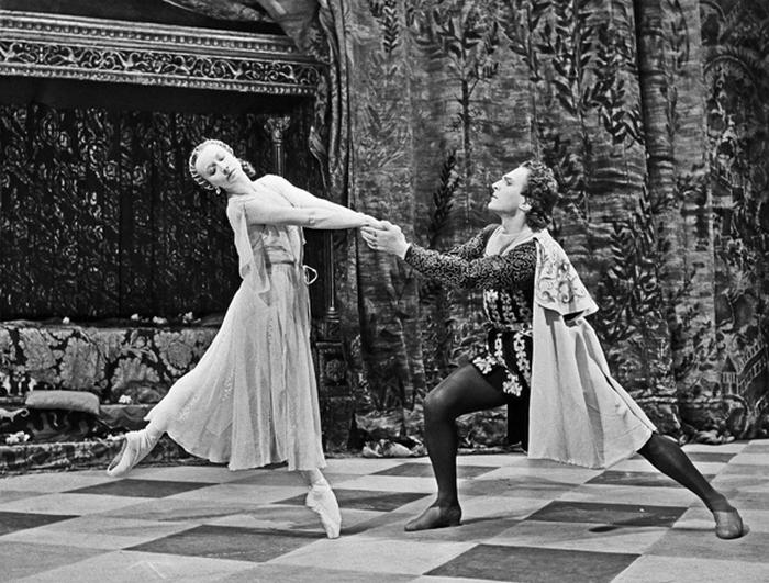 Уланова и Жданов. Балет *Ромео и Джульета*.