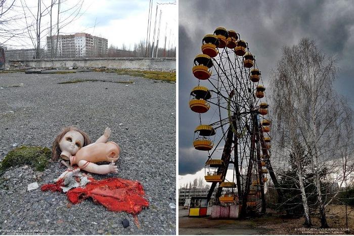 Людей из Припяти эвакуировали после аварии на Чернобыльской АЭС