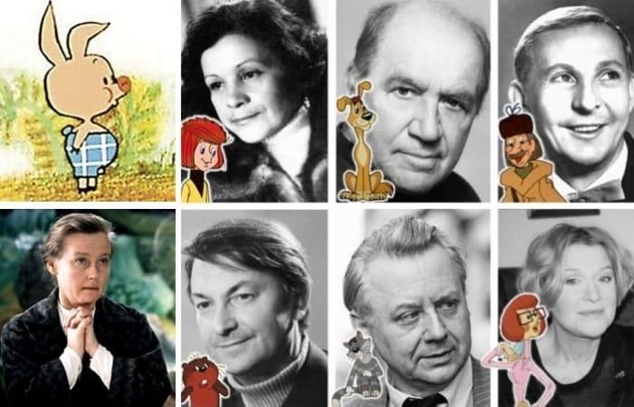 Актеры, которые занимались озвучиванием самых популярных советских мультфильмов | Фото: tele.ru и bolshoyvopros.ru