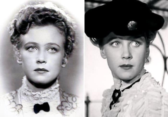 Ия Саввина в своем первом фильме *Дама с собачкой*, 1960 (24 года) | Фото: kino-teatr.ru, kinootziv.com