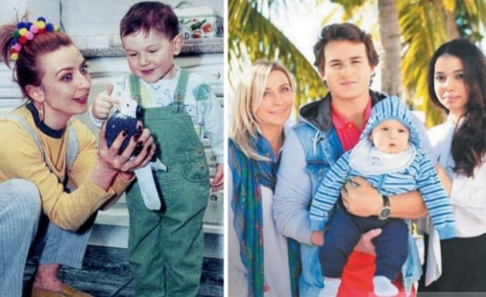 Слева – певица с сыном. Справа – Овсиенко с сыном, невесткой и внуком | Фото: pravda-news.ru