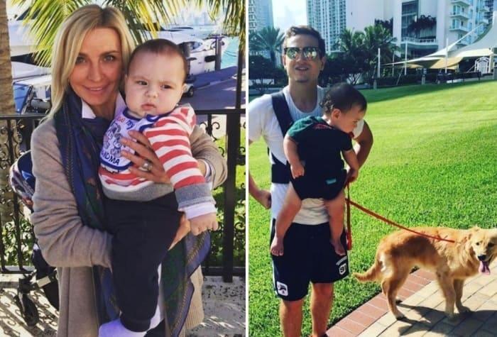 Слева – Татьяна Овсиенко с внуком. Справа – приемный сын певицы и ее внук | Фото: teleprogramma.pro