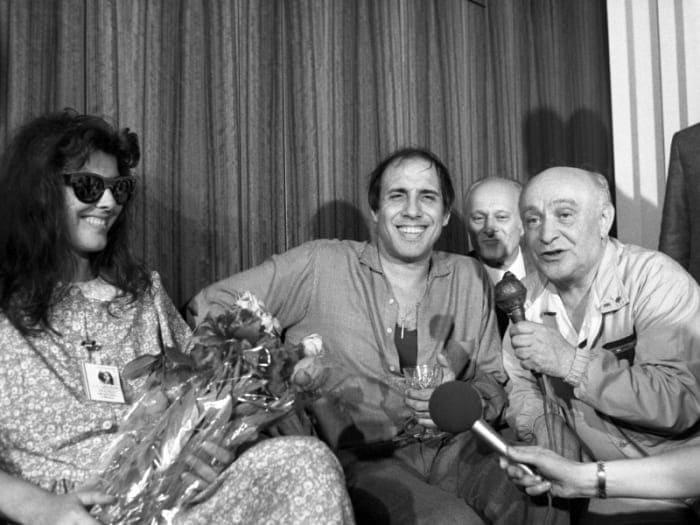Клаудия Мори, Адриано Челентано и Ролан Быков, июнь 1987 | Фото: sobesednik.ru