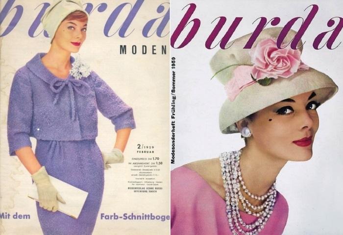 Обложки журнала *Burda moden* 1950-х гг. | Фото: ms77.ru и mtdata.ru