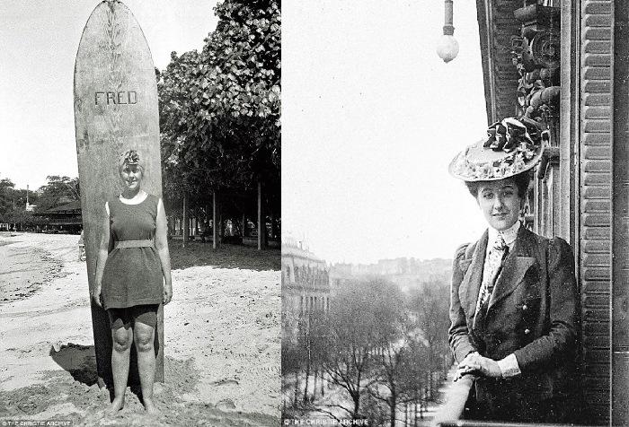 Молодая Агата Кристи – одна их первых англичанок-серферов