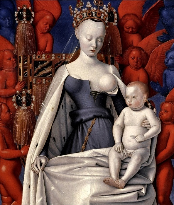 Жан Фуке изобразил Агнессу в образе Мадонны с младенцем