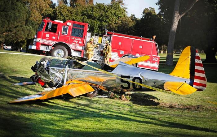 Самолет Харрисона Форда, совершивший аварийную посадку на поле для гольфа | Фото: gazeta.ru