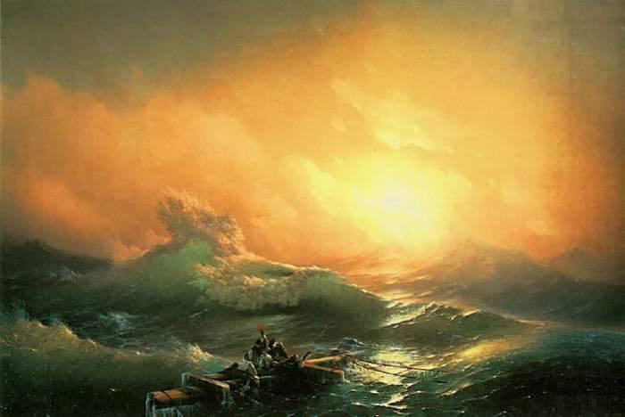 И. Айвазовский. Девятый вал, 1850 | Фото: wm-painting.ru