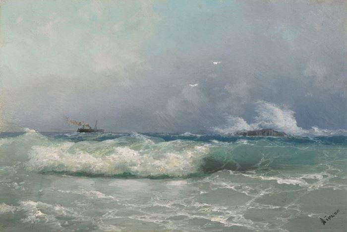 И. Айвазовский. Биарриц, 1889 | Фото: liveinternet.ru