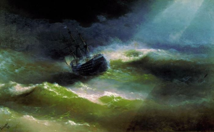 И. Айвазовский. Корабль *Императрица Мария* во время шторма, 1892 | Фото: art-portrets.ru
