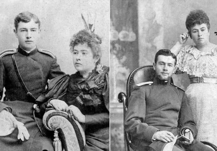 Александр Ханжонков с сестрой и с матерью | Фото: persons-info.com
