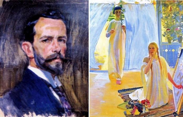 Александр Мурашко. Автопортрет, 1918. Благовещение, 1909