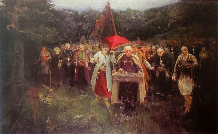 Александр Мурашко. Похороны кошевого, 1900