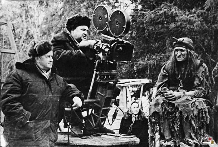 Александр Роу на съемках фильма *Морозко*, 1964 | Фото: kino-teatr.ru