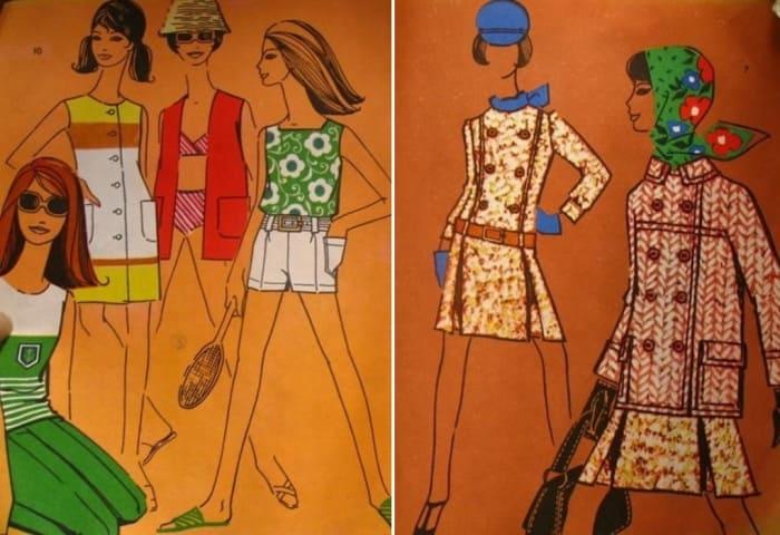 Эскизы из книги М. Азаровой и А. Грамолиной *Конструирование и моделирование одежды*, 1969 | Фото: freecity.lv
