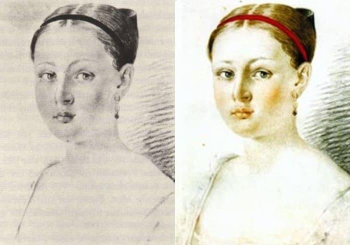 А. Маньяни. Портрет А. Г. Чернышевой, 1816   Фото: birmaga.ru и nkj.ru