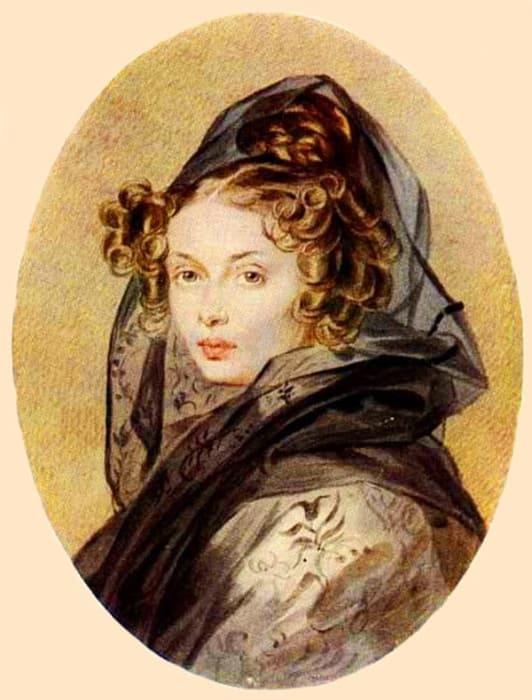 П. Ф. Соколов. Портрет Александры Григорьевны Муравьевой, 1825 | Фото: liveinternet.ru