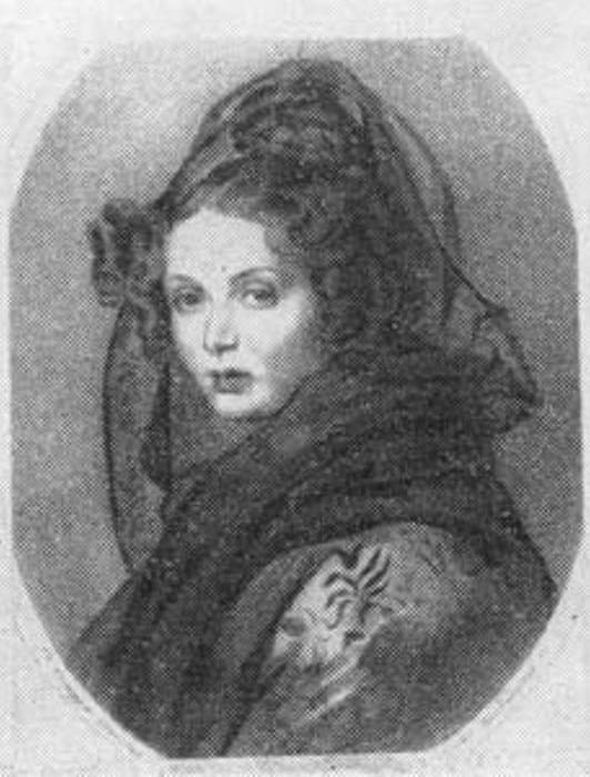 А. Г. Муравьева-Чернышева, 1820 г. С портрета художника П. Соколова   Фото: xliby.ru