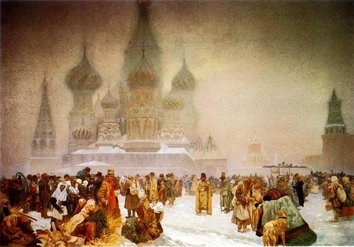 Альфонс Муха. Отмена крепостного права на Руси, 1914 | Фото: liveinternet.ru