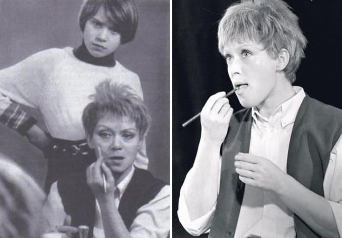 С дочерью перед спектаклем *Малыш и Карлсон*, 1974 | Фото: kino-teatr.ru, 7days.ru