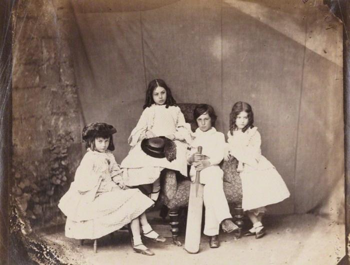 Алиса, Лорин, Гарри, Эдит Лидделлы, 1860 г. Фото Льюиса Кэрролла