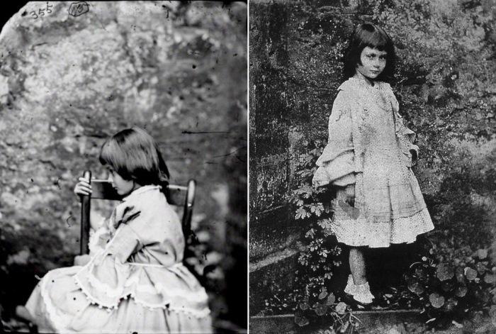 Алиса Лидделл, 1858 г. Фото Льюиса Кэрролла