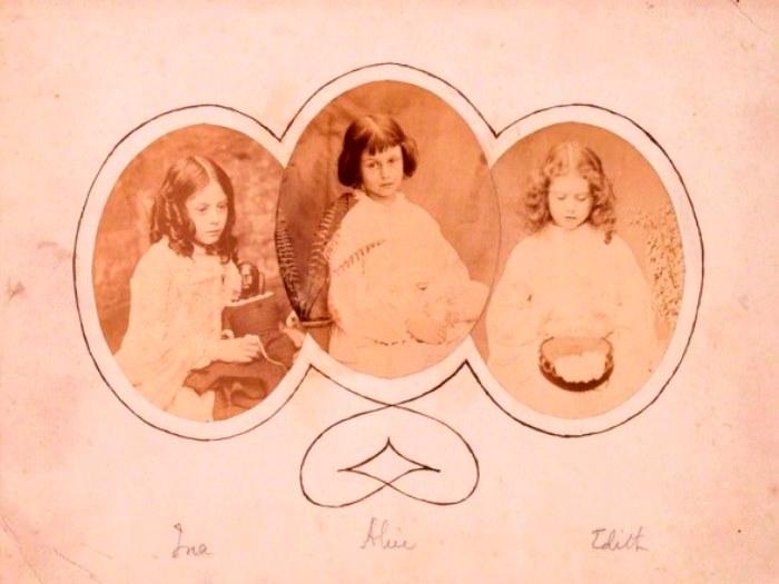 Лорин, Алиса и Эдит Лидделлы, 1858–1860 гг. Фото Льюиса Кэрролла