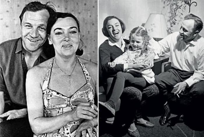 Алла Парфаньяк и Михаил Ульянов с дочерью   Фото: kino-teatr.ru