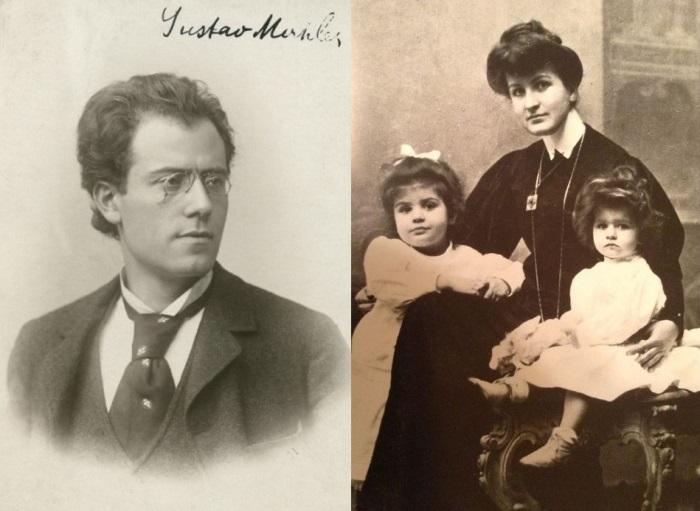 Густав Малер, его жена Альма и дочери | Фото: venagid.ru